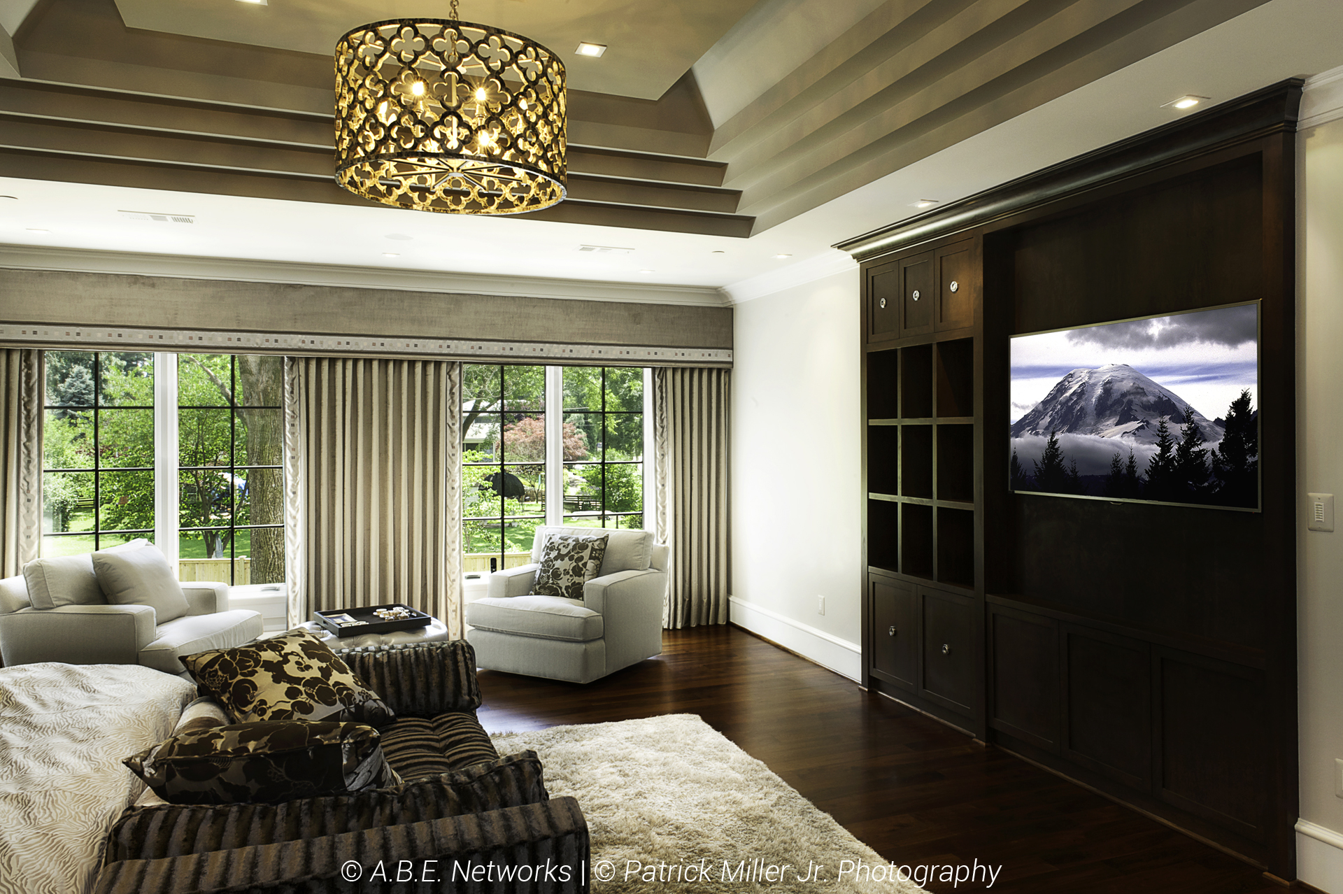 Bedroom Lutron Blackout Shades_Up