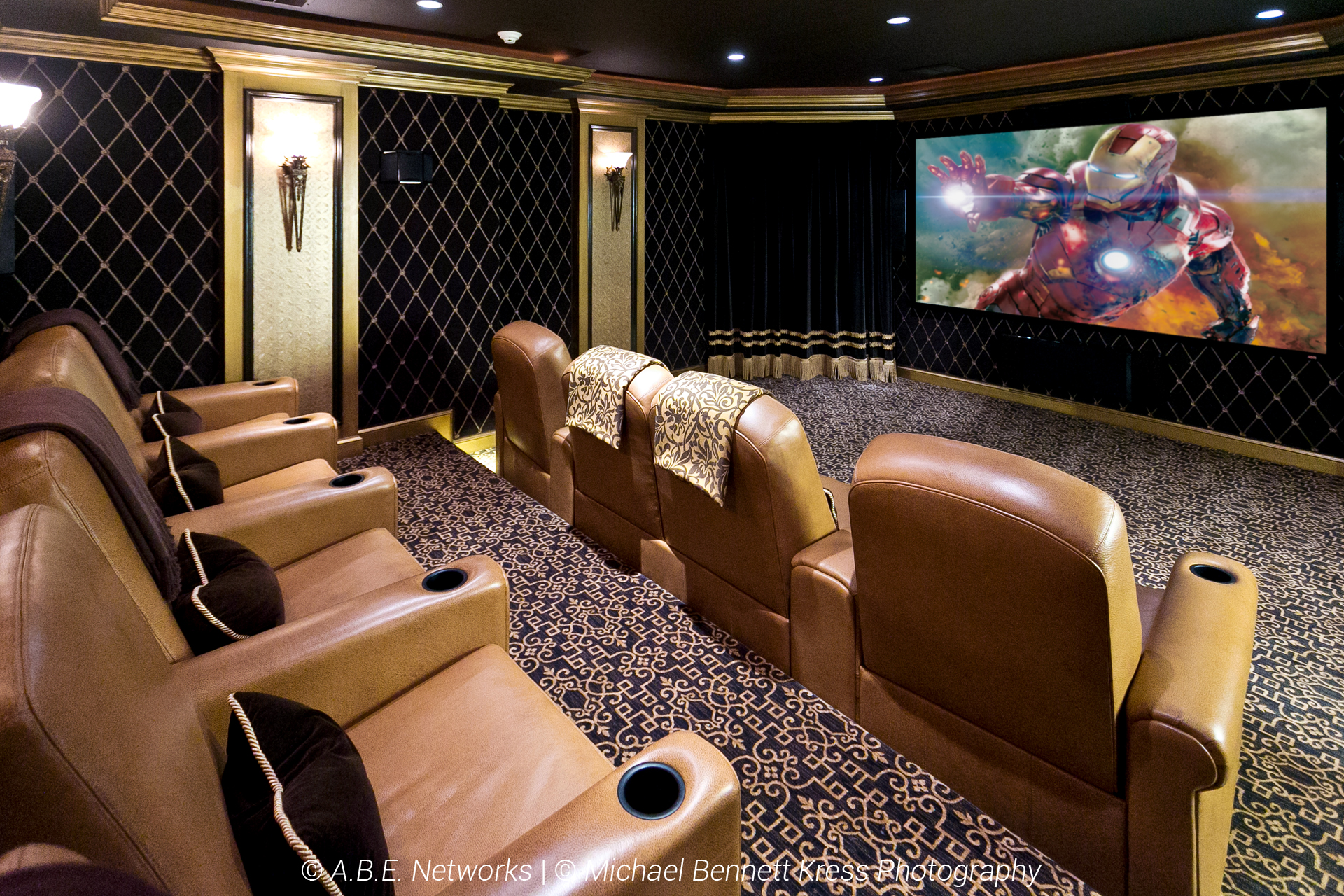 Home Theather_Fortress Seating_Draper Screen_Sunfire Speakers